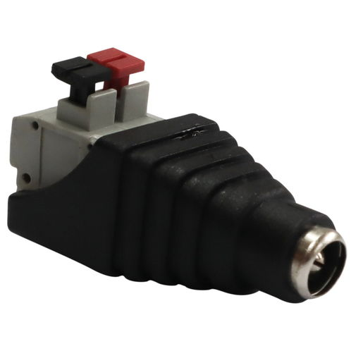DC Jack Socket To Cable Adaptor, 12V Rating, 2.5mm Inner Diameter, For Connecting Loose Wires image #1