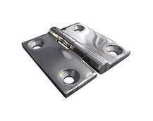 Stainless Steel A4 (316) Butt Hinge, Marine & Sailing, Door, Locker, Cabinet 50x50mm