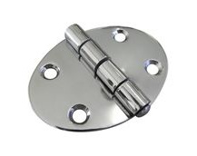 Stainless Steel A2 Oval Hinge, 67x48mm, Marine & Sailing, Door, Locker, Cabinet