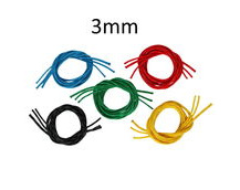 Braided Polyester Dinghy Line With 32plait Polyester Cover, Solid Colour 3mm Diameter