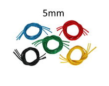 Braided Polyester Dinghy Line With 32plait Polyester Cover, Solid Colour 5mm Diameter