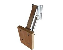 Outboard Motor Mounting Bracket With Wooden Plate