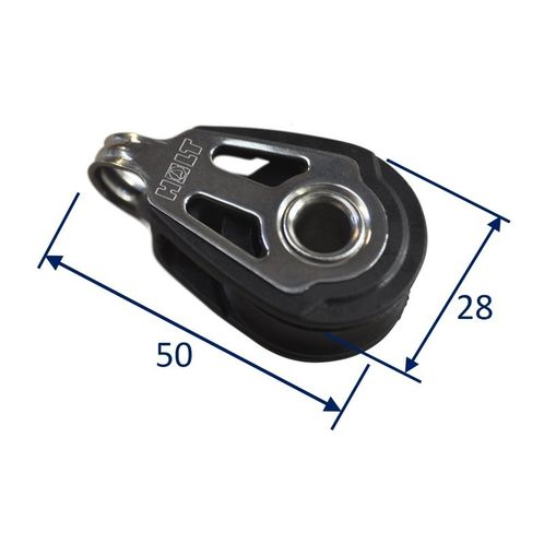 product image for Dynamic 30mm Pulley Block, single fixed.  Line size 5 to 8mm
