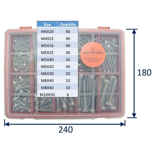 product image for Kit Box Of 316 Stainless Steel Hex-Head Set-Screws