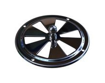 Round Stainless Steel Vent, 100mm Diameter, With Closing Action