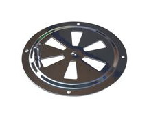 Round Stainless Steel Vent, 125mm Diameter, With Closing Action