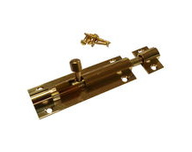 Brass Marine Latch Bolt 75mm / Barrel Bolt / Boat Locker Latch