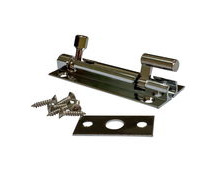 Offset Slide Latch Bolt 75mm In Chrome Plated Brass, With Screws