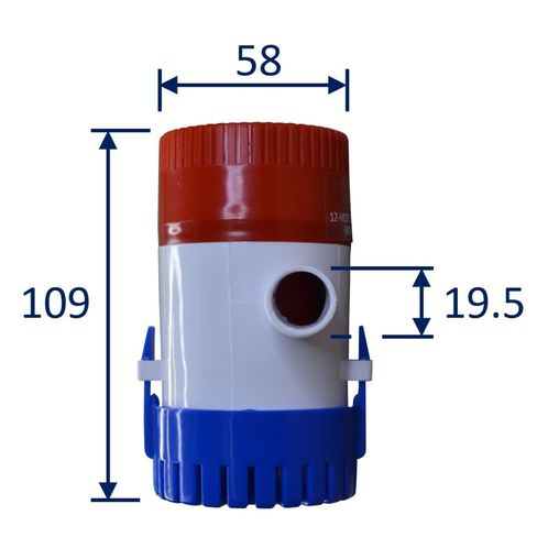 product image for 12V Bilge Pump, 500 Gallons Per Hour, Submersible.
