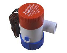 12V Bilge Pump, 1100 Gallons Per Hour, Submersible.