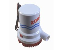 Bilge Pump, 2000 Gallons Per Hour, 12V, Submersible