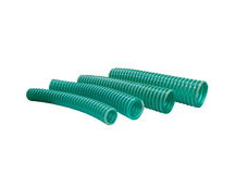 Flexible Green-Tinted PVC Marine Delivery and Suction Hose With Spiral Reinforcing