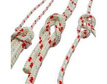 Braided Polyester Sailing Rope, Foresheet, Mainsheet Rope, Red Fleck