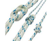 Braided Polyester Sailing Rope, Foresheet, Mainsheet Rope, Blue Fleck