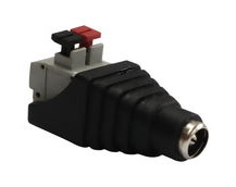 DC Jack Socket To Cable Adaptor, 12V Rating, 2.5mm Inner Diameter, For Connecting Loose Wires